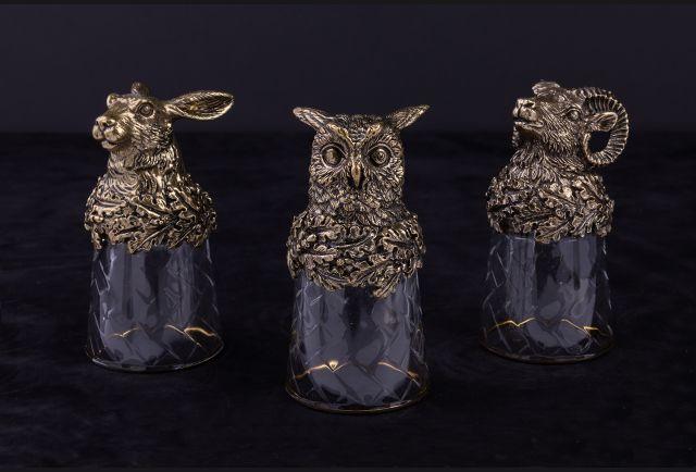 Стопки подарочные Лесные звери Премиум  3 или 6 шт
