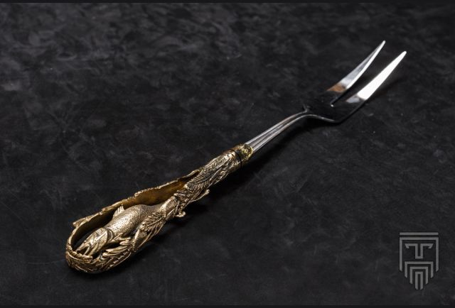 Вилка для шашлыка (латунь, серия Рыбалка)