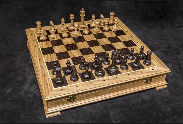 Шахматы Стаунтон дуб