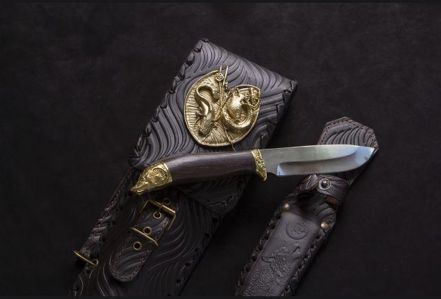 Чехол для шампуров модель №2 с накладкой Рыбак и ножом