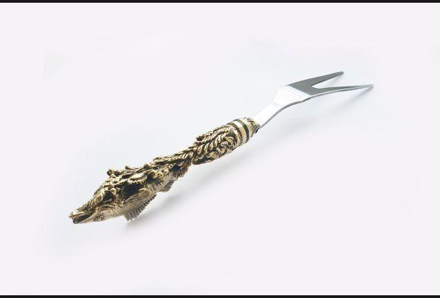 Вилка для шашлыка (латунь, серия Мечта рыбака)