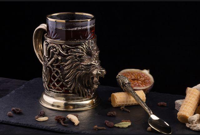 Подстаканник подарочный Мудрый лев