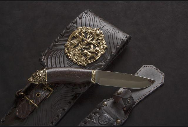Чехол для шампуров модель №2 с накладкой Охотник и ножом